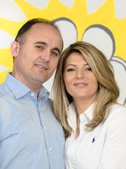 Pflegedienst Medisun in München, auf dem Bild ist Ehepaar Gashi zu sehen